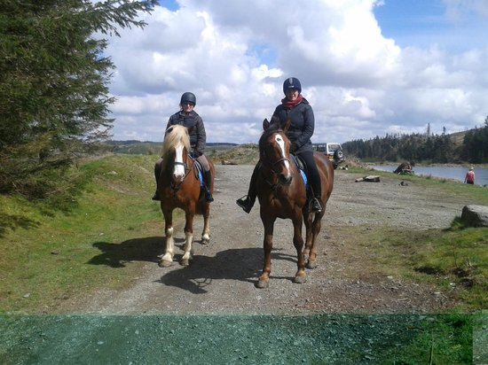 Caeiago Riding Centre: Me and my friend Martha after a picnic by the lake