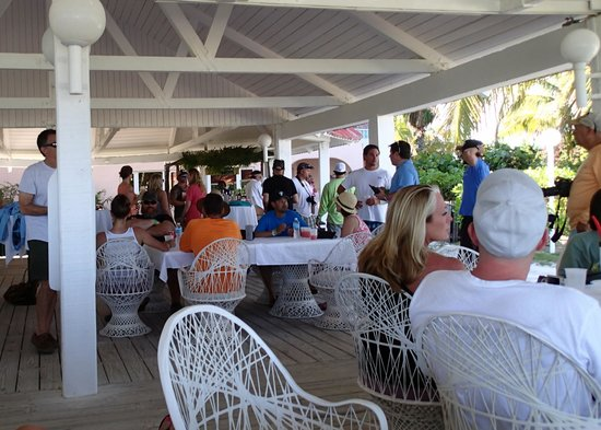 Taino by the Sea: Captain's meeting in thhe pavilion