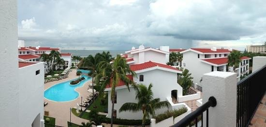 The Royal Cancun All Suites Resort: the view from the balcony