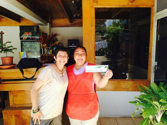 Hotel Javy: Saying goodbye to staff member at Javy