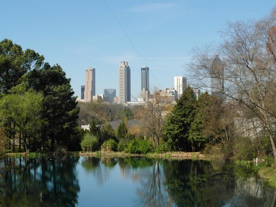 Jimmy Carter Library & Museum: Atlanta Downtown from Carter Library
