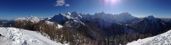 Valbruna Inn: Mount Lussari and the Julian Alps.  Just outside your door.