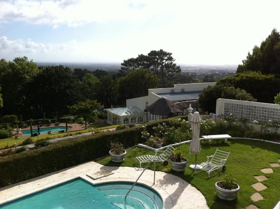 Stillness Manor & Spa: From the room - view of 2 outdoor pools
