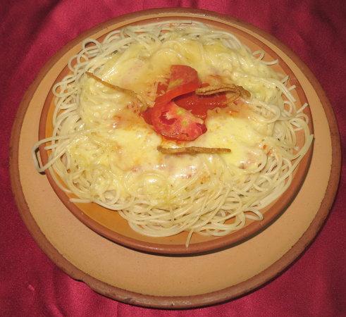 Plato de espaguetis foto di los amigos santa cruz del for Plato de espaguetis