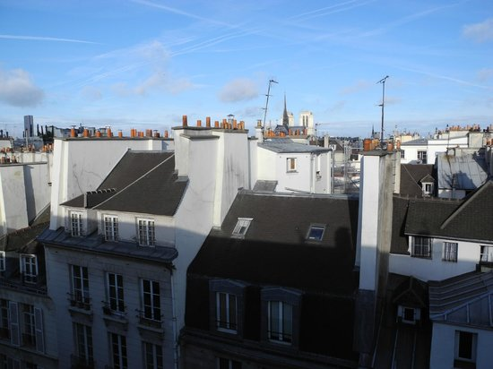Special Apartments: View west towards Notre Dame and the Eiffel Tower