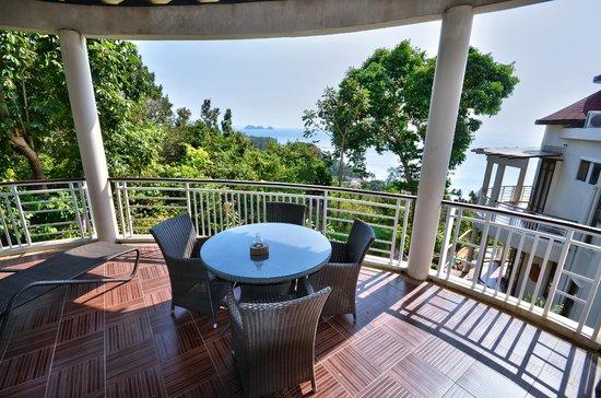 Sunset Hill Resort: terrasse