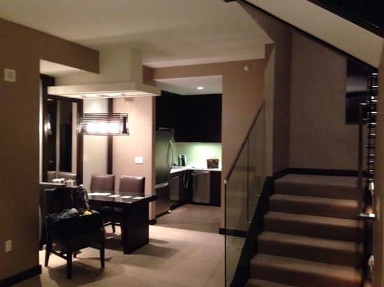 Vdara Hotel & Spa: First floor of the penthouse suite. Bedroom on second floor