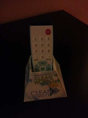 Best Western Plus Carlton Suites : Easy clean remote - easy to sanitize