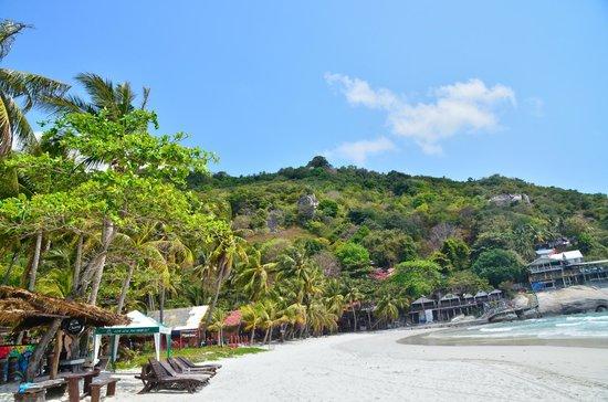 Haad Rin: beach view