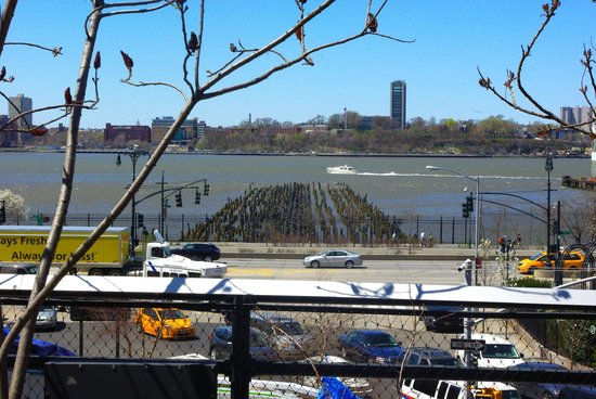 View of river from the High Line