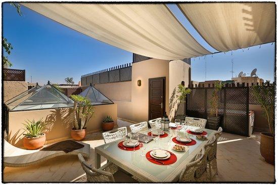 Riad L'Empire : Terrasse avec Jacuzzi