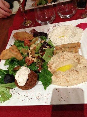 Palmyre : Mezze végétarien 7 pièces bonheur