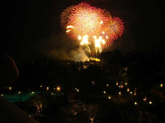 La Residence Hue Hotel & Spa: Firework display over the Citadel