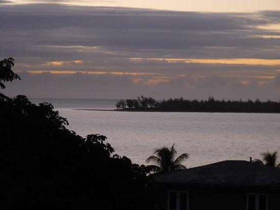 La Reine Creole B & B: Blick von der Dachterrasse auf die Ile aux Bentiers