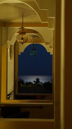 Absolute Sanctuary: View from our room balcony during full moon