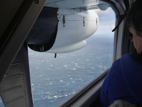Stewart Island Flights: Choppy Foveaux Strait below