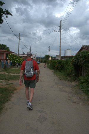 Villa Nereyda: Beginning our walking trek - walking through the inner town.