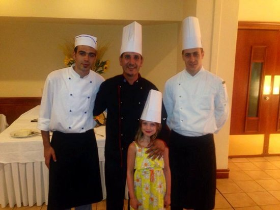 Avanti Holiday Village: My daughter with the wondeful chef's