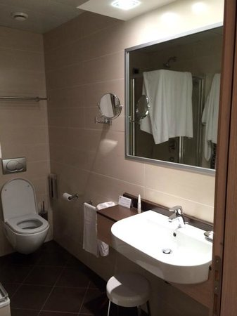 iQ Hotel Roma: Baño bien equipado