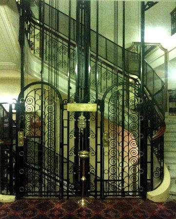 Steigenberger Cecil Hotel : The period lift at  Cecil Sofitel, Alexandria is a big draw