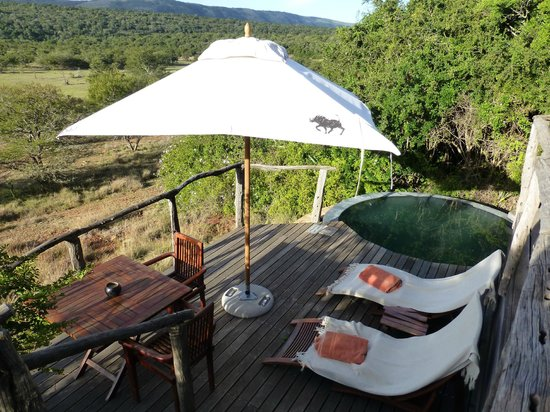 Pumba Private Game Reserve: Our room had a great terrace