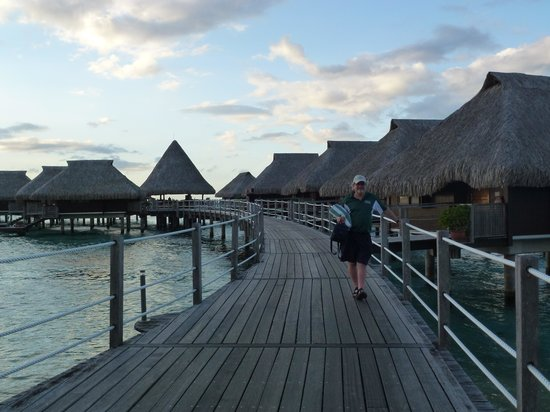 Hilton Moorea Lagoon Resort & Spa: Walking to Bungalow 100