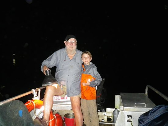Dan Irby's Mangrove Adventures: Martin and Dan at the end of our evening cruise