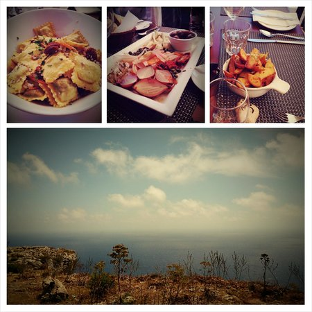 The Cliffs: Food and view