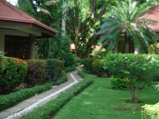 Villa Acacia: the walkway through the court yard