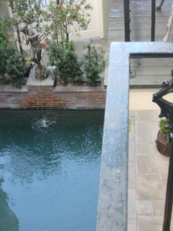Bienville House: View of Icy pool from balcony--