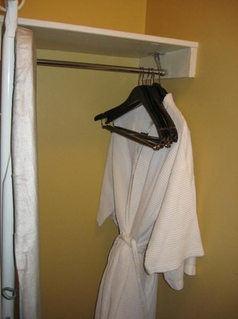Bienville House : robes in closet