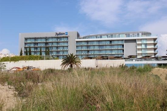 Radisson Blu Resort Split : view from the route to the beach