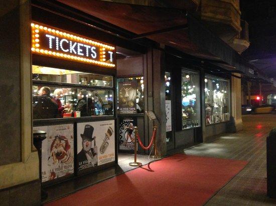 Tickets: Front door