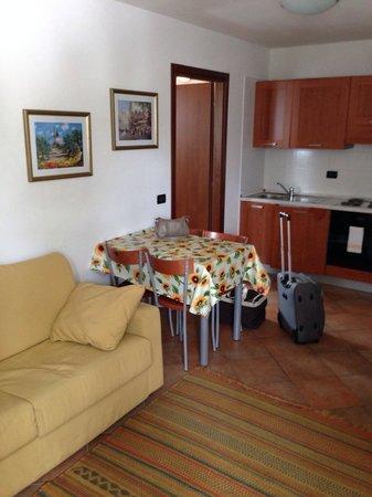 Residence Dello Stelvio: Cucina/salotto