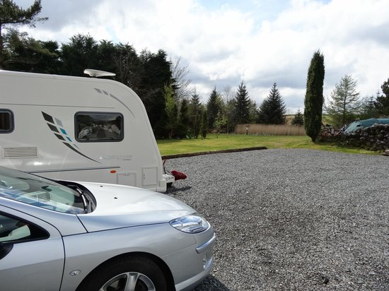 Glentrool Camping and Caravan Site: Touring pitch at Glentrool Holiday Park