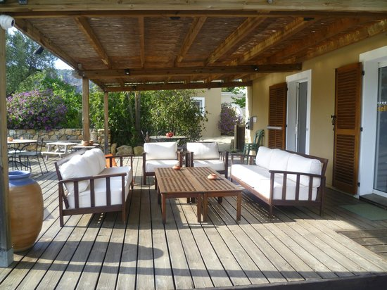 E Caselle villas hôtelières : Terrasse près de la réception
