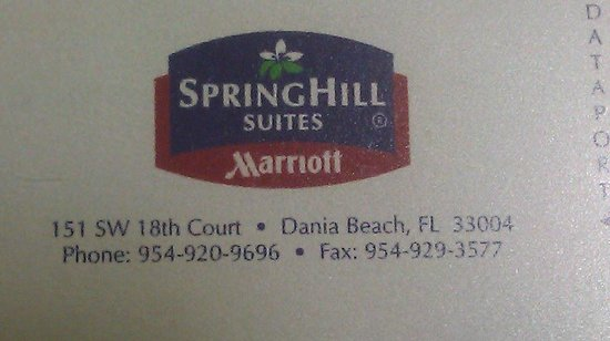 SpringHill Suites Fort Lauderdale Airport & Cruise Port: Address