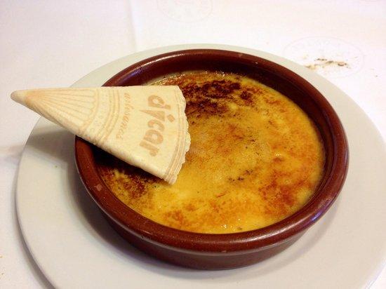7 Portes: Crema catalana con biscotto