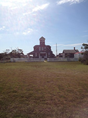 Chicamacomico Life-Saving Station Historic Site & Museum: View of station from beach path