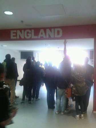 Wembley Stadium Tours: In the tunnel area