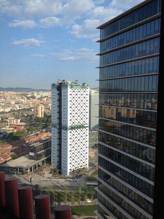 Hotel Porta Fira: Visuale dalla camera (20º piano, camera 2011)