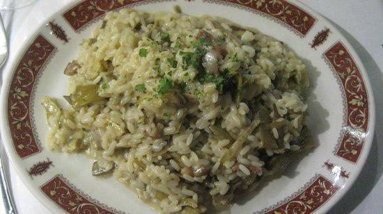 Il Bargello : risotto carciofi e pancetta