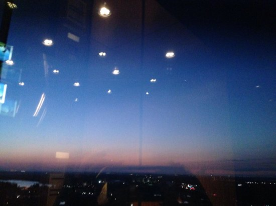 Orlando World Center Marriott: View from glass elevator at dawn 2