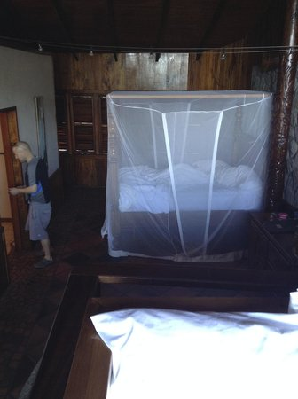 Ladera Resort: all beds have a mosquito net - this was my sister in law's room