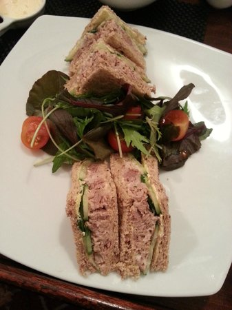 Rathbone Hotel: Room service - Tuna sandwich on millet bread