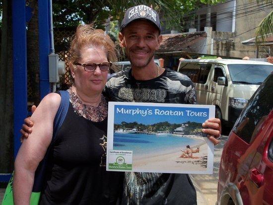 Murphy's Roatan Tours : My wife and Murphy
