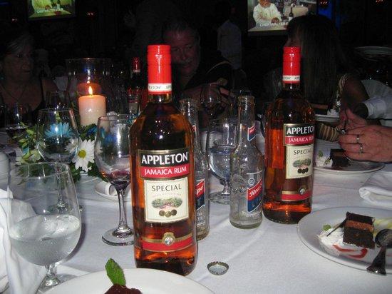 Sandals Whitehouse European Village and Spa: Appleton at Returning Guest dinner