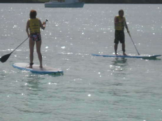 Sandals Whitehouse European Village and Spa: 1st time on paddle boards