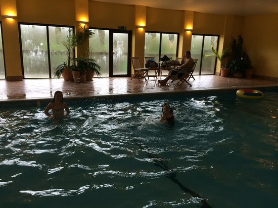 The indoor swimming pool at Knowle Farm.