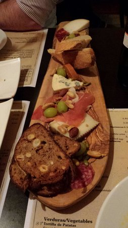 The Olive Tree: Meat and cheese platter